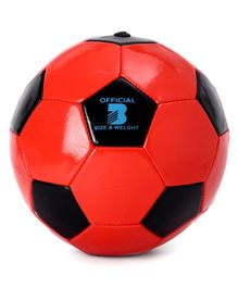 PVC Football size - Red Black