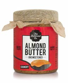The Butternut Co. Unsweetened Almond Butter Crunchy - 200 gm