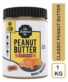 The Butternut Co. Crunchy Peanut Butter with Jaggery - 1 Kg