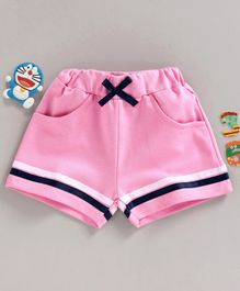 Fido Striped Knee Length Shorts - Pink