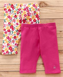 UCB Pants Floral Print Pack of 2 - Pink White
