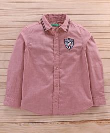 UCB Full Sleeves Shirt Benetton Patch - Peach