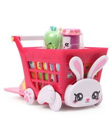 Kindi Shopping Cart With Bunny Face in Front - Pink