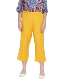 Oxolloxo Solid Three Fourth Length Maternity Culottes - Yellow