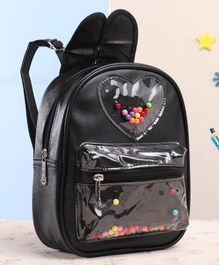 School Bag With Adjustable Strap Black - 8 Inches