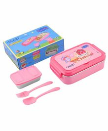 Youp Stainless Steel Peppa Pig Lunch Box - Pink