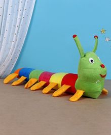 Deals India Caterpillar Soft Toy Multicolor - Length 55 cm