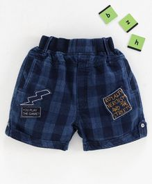 Chicklets Checked Shorts - Yellow & Blue