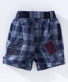 Chicklets Checked Shorts - Red & Blue