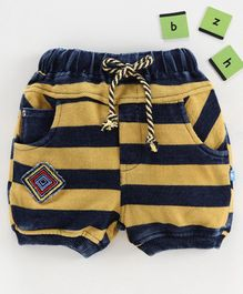 Chicklets Striped Shorts - Gold