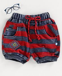 Chicklets Striped Shorts - Red