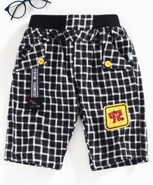 Chicklets Checked Shorts - Black