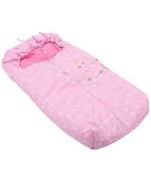 Montaly Bear with Heart Print Sleeping Bag - Pink