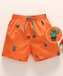 LC Waikiki Cactus Printed Shorts - Orange