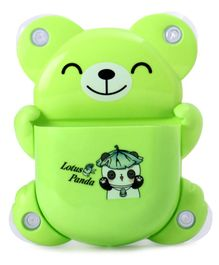 Teddy Shape Tooth Brush Stand Panda Print - Green