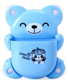 Teddy Shape Tooth Brush Stand Panda Print - Blue