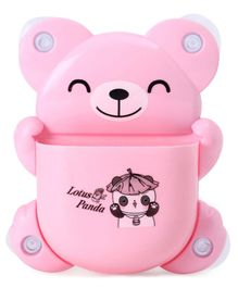 Teddy Shape Tooth Brush Stand - Pink