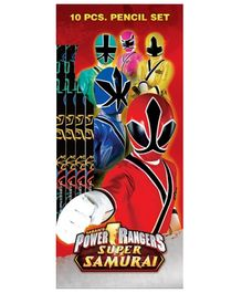 Power Ranger Pencil Set - 10 Pieces