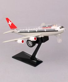 Shinsei Jumbo Pull Back 747 Plane with Stand - (Color May Vary)