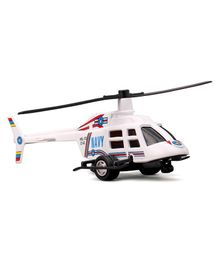Shinsei Pull Back Rescue Toy Helicopter (Color May Vary)