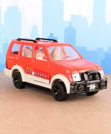 Shinsei Pull Back Toyota Prado Car Toy - Red