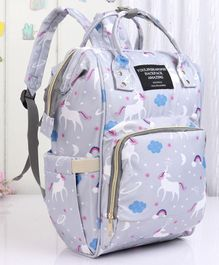 Backpack Style Diaper Bag - Grey