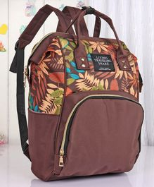Backpack Style Diaper Bag - Brown
