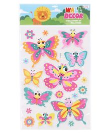 Butterfly Themed Wall Stickers - Multicolour