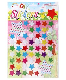 Wall Decor Sticker Star Shaped - Multicolor