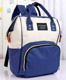 Backpack Style Diaper Bag - Blue White
