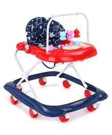 Musical Baby Walker - Blue Red
