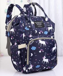 Backpack Style Diaper Bag Animal Print - Blue