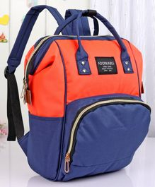 Backpack Style Diaper Bag - Blue Orange