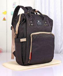 Backpack Style Diaper Bag with Changing Mat - Brown