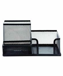 Syga Three Compartments Pen Stand - Black