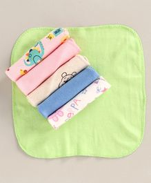 Zoe 100% Cotton Wash Cloth Pack of 6 - Multicolor