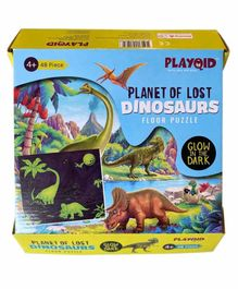Palyqid Planet of Lost Dinosaurs Glow in the Dark Puzzle Multicolor - 48 Pieces