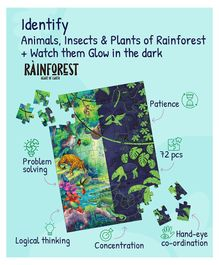 Playqid Rainforest Heart of Earth Glow in the Dark Floor Puzzle - 72 Pieces