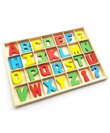 Webby Educational Wooden Board with Capital Letters - Multicolor