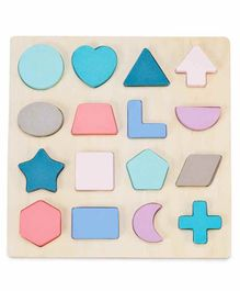 Webby Educational Wooden Board with Shapes & Signs - Multicolor