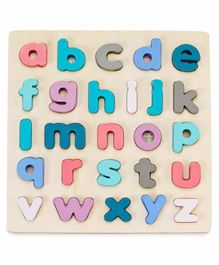 Webby Educational Wooden Board with Small Letters - Multicolor