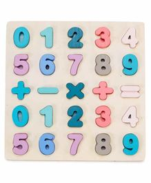 Webby Educational Wooden Board with Numbers - Multicolor