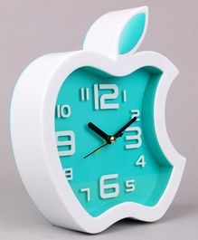Apple Shape Clock - Light Blue