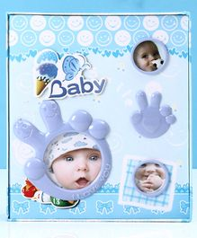 Ice Cream Print Baby Photo Album - Blue