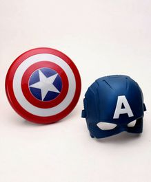 Marvel Avengers Captain America Mask & Magnetic Shield Set - Blue