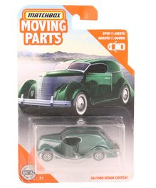 Matchbox Die Cast & Free Wheel 36 Ford Sedan Custom Toy Car - Green