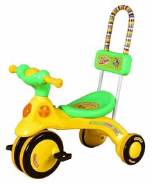 Cosmo Xtreme Tricycle with 4 Wheels - Green Yellow