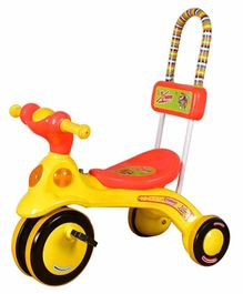 Cosmo Xtreme Tricycle with 4 Wheels - Yellow Red