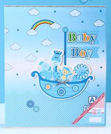 Baby Boy Photo Album Animal Print - Blue