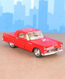 Kinsmart Die Cast Pull Back Black 1955 Ford Thunderbird Toy Car - Red